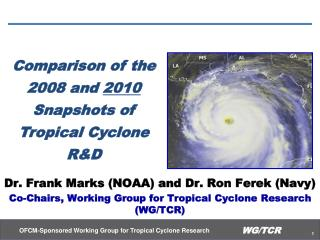 Comparison of the 2008 and  2010   Snapshots of Tropical Cyclone R&D