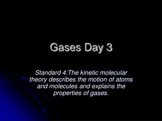 Gases Day  3