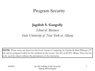 Program Security