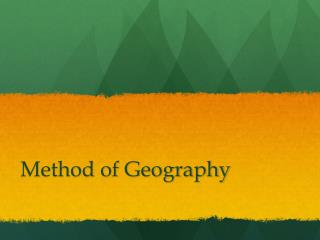 Method of Geography