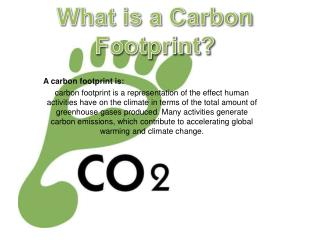 A  carbon footprint is :