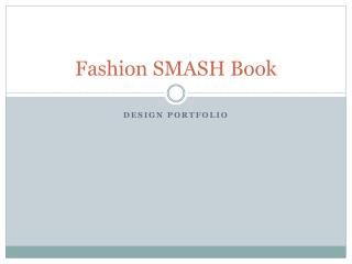 Fashion SMASH Book