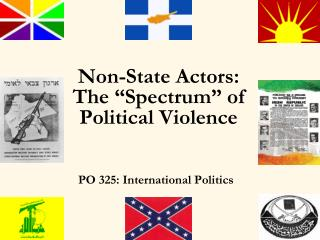 """Non-State Actors: The """"Spectrum"""" of Political Violence"""