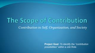 The Scope of Contribution