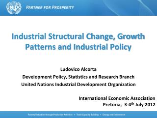 Industrial Structural Change, Growth Patterns and Industrial Policy