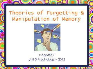 Theories of Forgetting & Manipulation of Memory