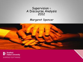 Supervision –  A Discourse Analysis 2012