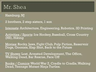 Mr. Shea
