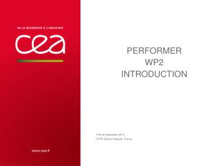 PERFORMER WP2 Introduction