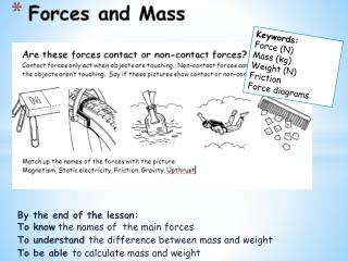 Forces and Mass