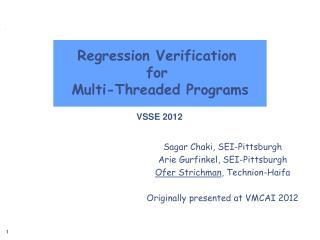 Regression Verification for Multi-Threaded Programs