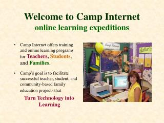 Welcome to Camp Internet