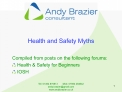 Health and Safety Myths