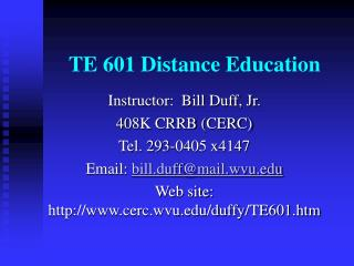 TE 601 Distance Education