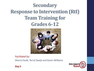 Secondary  Response to Intervention (RtI)   Team Training for  Grades 6-12