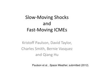 Slow-Moving Shocks and Fast-Moving ICMEs