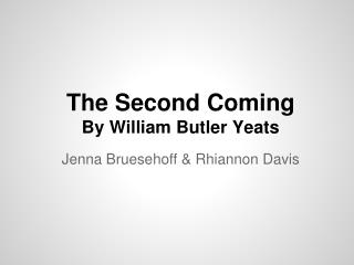 The Second Coming By William Butler Yeats