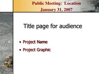 Project Name Project Graphic