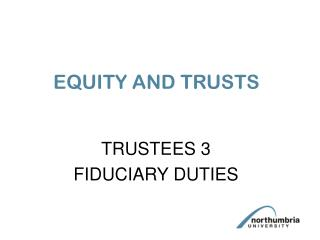 EQUITY AND TRUSTS