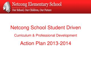 Netcong School Student Driven Curriculum & Professional Development Action Plan 2013-2014