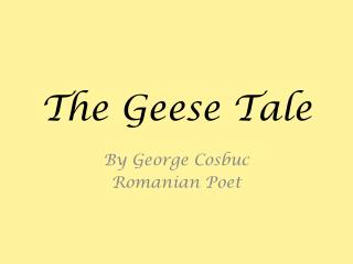 The  Geese  Tale