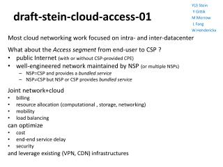 draft-stein-cloud-access-01