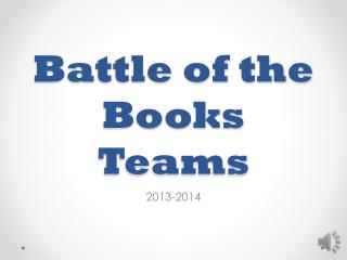 Battle of the Books Teams