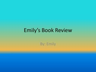 Emily's Book Review