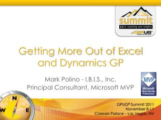 Getting More Out of Excel and Dynamics GP