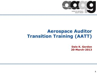 Aerospace Auditor Transition Training (AATT)
