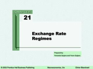 Exchange Rate Regimes