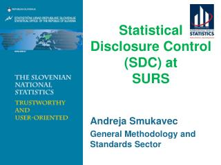 Statistical Disclosure Control (SDC) at  SURS