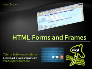 HTML Forms and Frames
