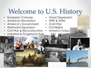 Welcome to U.S. History
