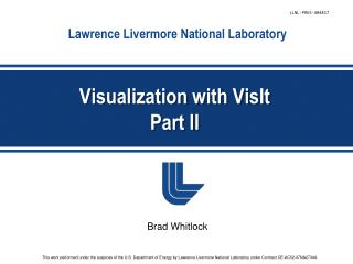 Visualization with  VisIt Part II