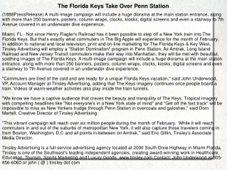 The Florida Keys Take Over Penn Station