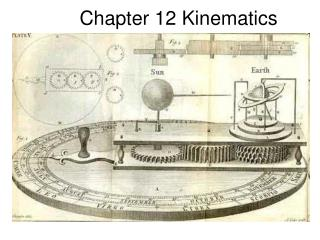 Chapter 12 Kinematics