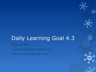Daily Learning Goal 4.3