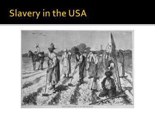 Slavery  in  the  USA