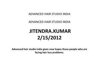 Advanced Hair Studio India