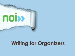 Writing for Organizers