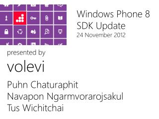 Windows Phone 8 SDK Update 24 November 2012