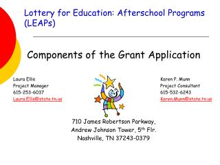 Lottery for Education: Afterschool Programs  (LEAPs)