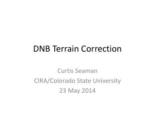 DNB Terrain Correction