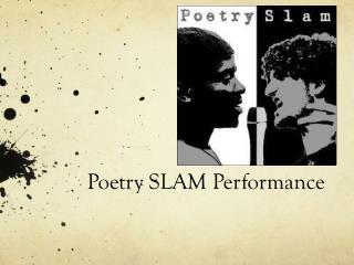 Poetry SLAM Performance