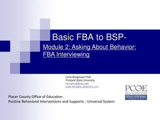 Basic FBA to BSP-