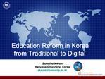 Education Reform in Korea