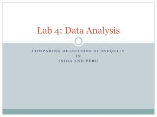 Lab 4: Data Analysis