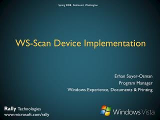 WS-Scan Device Implementation