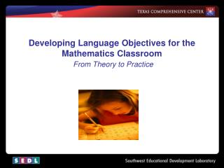 Developing Language Objectives for the Mathematics Classroom From Theory to Practice